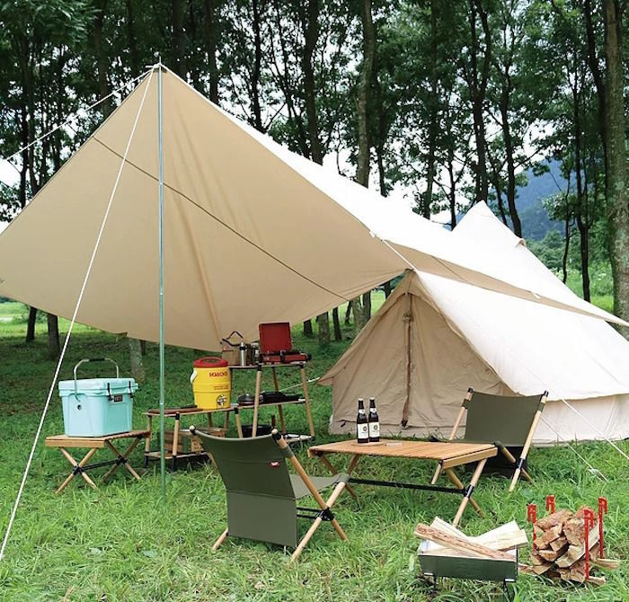 テントやテーブルなどのキャンプ用品