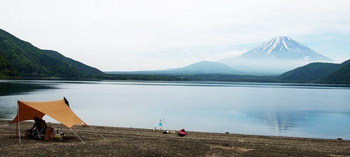 浩庵キャンプ場から見える富士山の写真