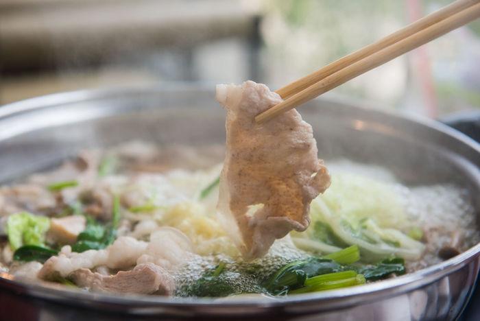 無水鍋で作った白菜鍋の写真