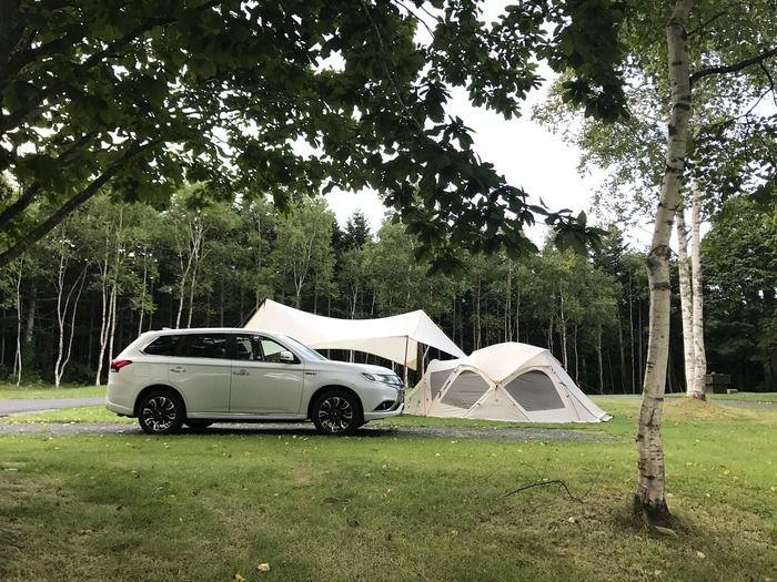 オートキャンプサイトの様子の写真