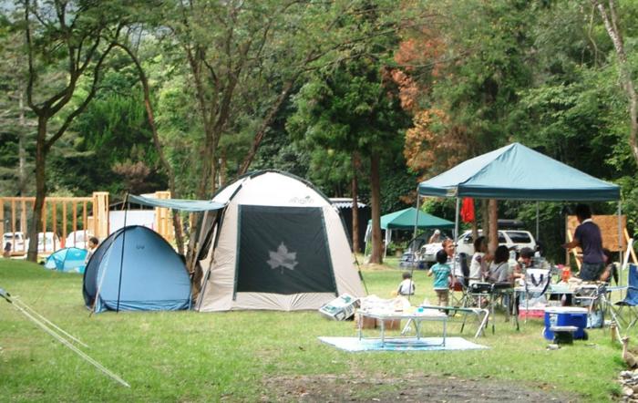 書写アウトドアパーク・タロリン村のテントサイト