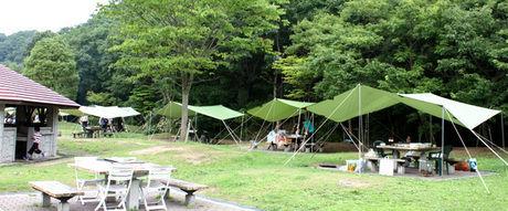 しあわせの村デイキャンプのバーベキューサイト
