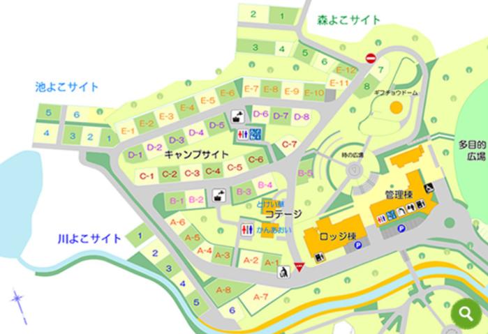 日時計の丘公園のマップ