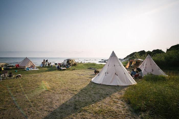 白浜フラワーパークのテントサイトの写真