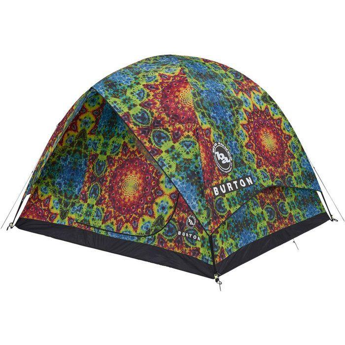 バートンの柄テントの写真