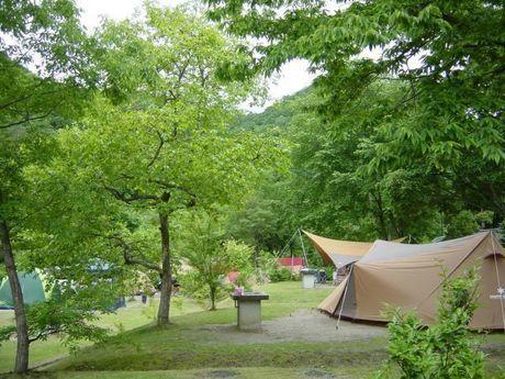大鬼谷オートキャンプ場のテントサイト