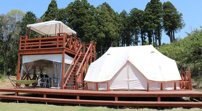 グランピングのテント・コテージの写真