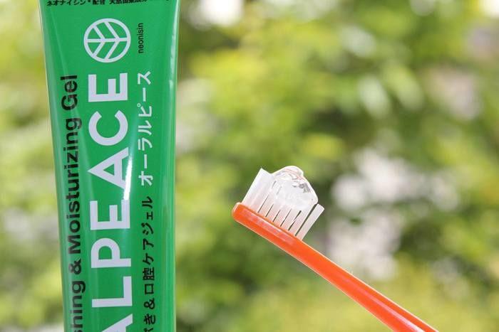 オーラルピースの歯磨き粉の写真