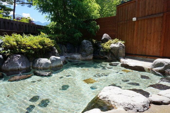 奥飛騨温泉郷オートキャンプ場のキャンパー専用露天風呂の写真