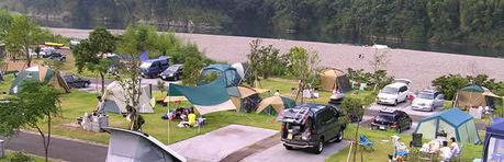 四万十カヌーとキャンプの里かわらっこのキャンプ風景