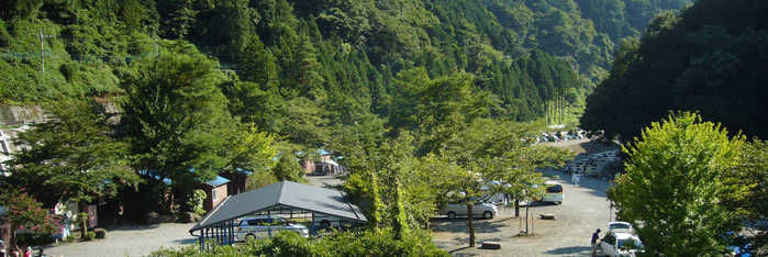 神之川キャンプ場の場内の写真