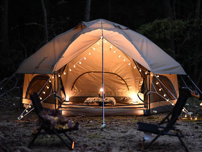 DODのワンタッチ寝室用テントの写真