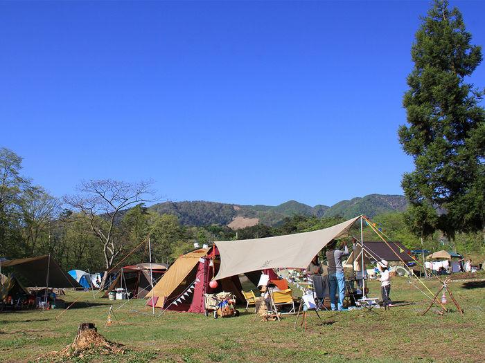 神鍋高原アップかんなべのキャンプの様子