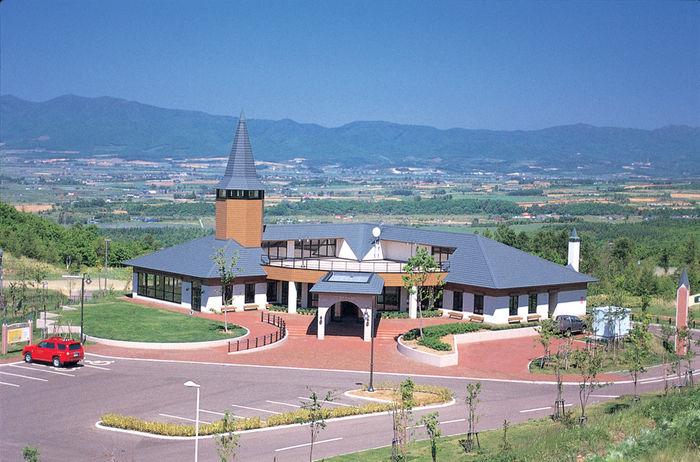 北海道の岩内町の上空写真