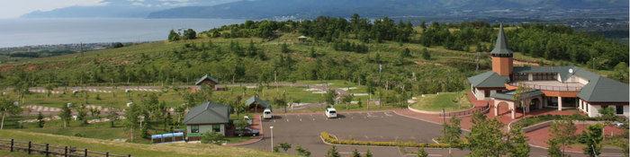 岩内町の上空写真