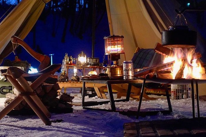 テント内の写真