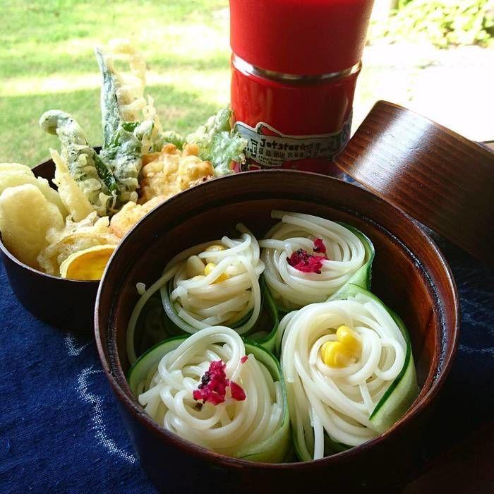 うどん×天ぷら弁当