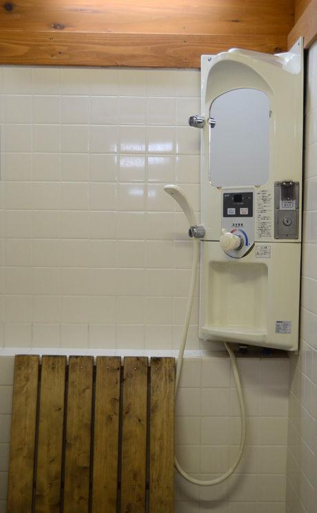 早川町オートキャンプ場のお風呂の写真
