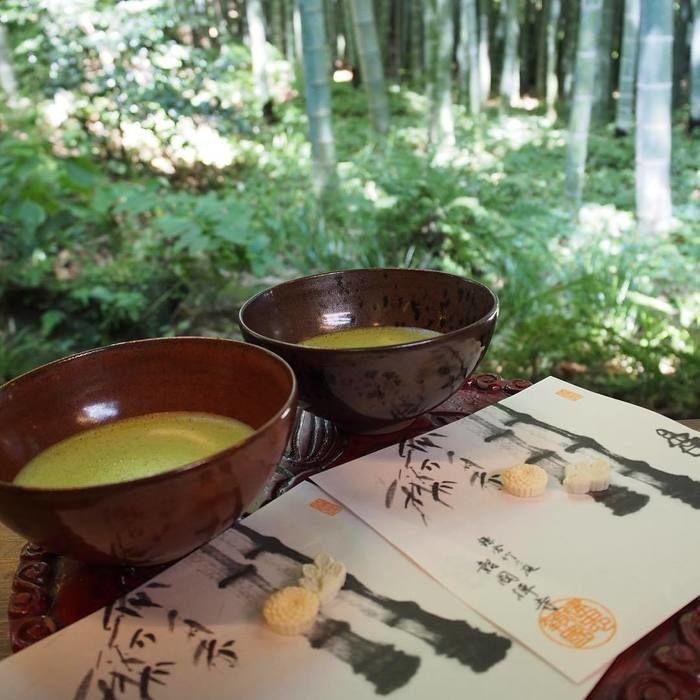 報国寺のお茶の写真