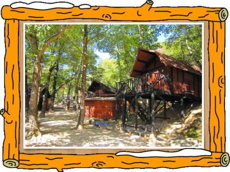 一里松キャンプ場 小型ロッジ