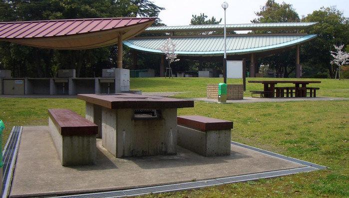 服部緑地の広場の写真