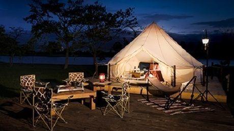 しのつ公園キャンプ場のグランピングテントの写真