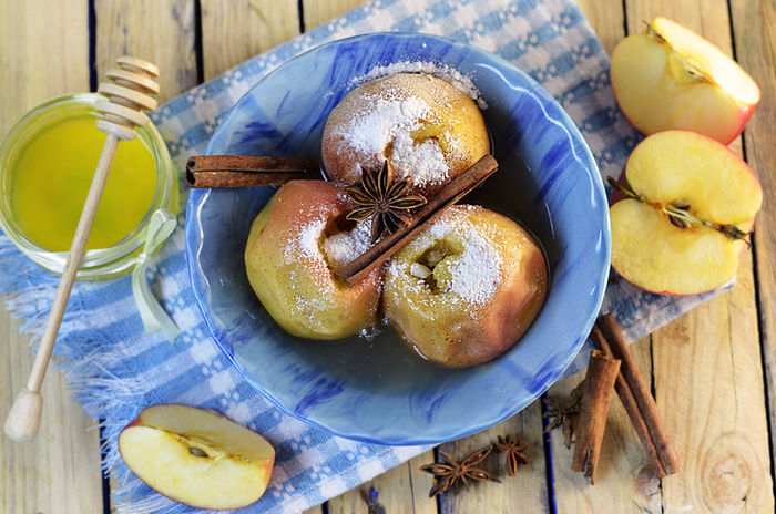 焼きりんごの写真