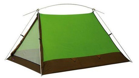 モンベルの緑色のテント