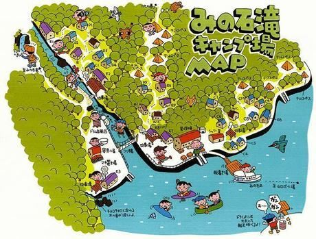 みの石滝キャンプ場のマップ画像