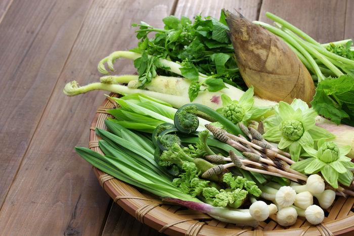 春野菜とたけのこ