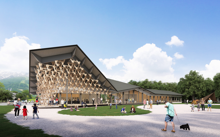スノーピーク新施設の外観イメージ