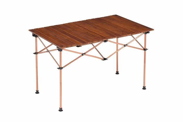 コールマンのウッドロールテーブルの画像