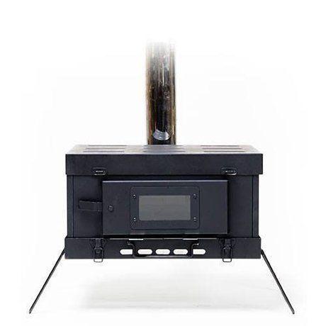 オーブン機能も持つストーブの画像