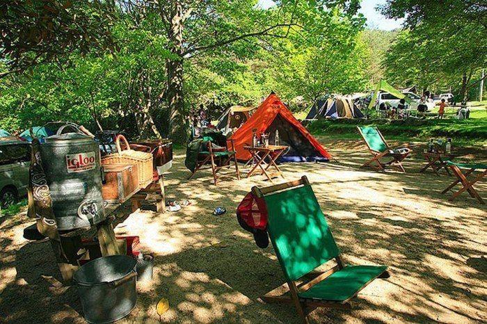 自然の森ファミリーオートキャンプ場のテントサイトの写真
