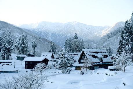 五箇山国民休養地相倉キャンプ場の冬場の様子