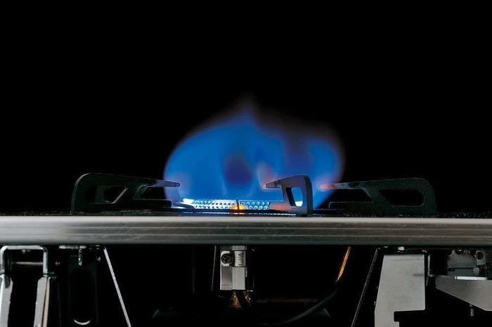 火がついているガスバーナー
