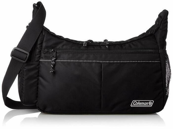 コールマンの黒いショルダーバッグ