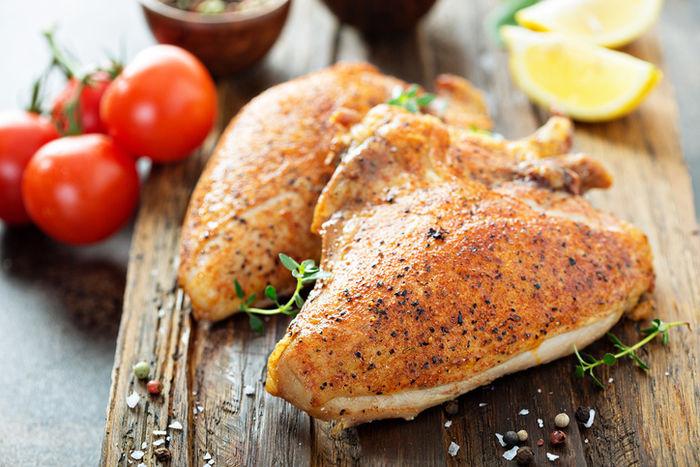 チキンの燻製