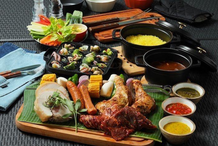 バーベキューコースの食材の写真