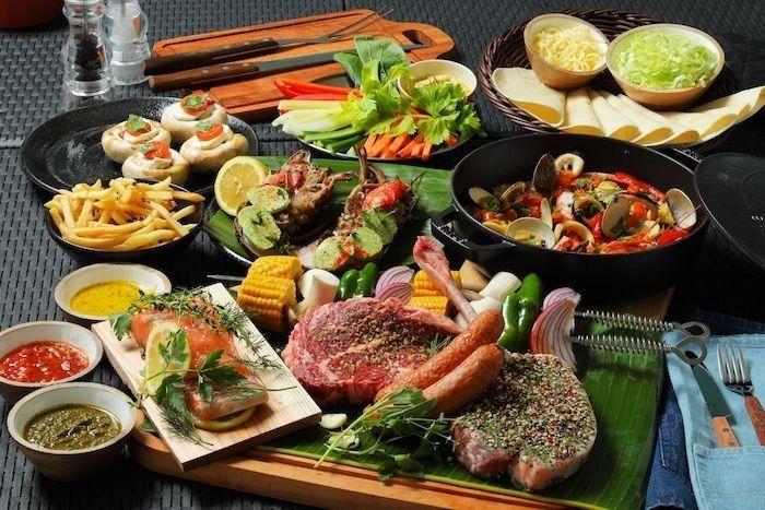 プレミアムバーベキューコースの食材の写真