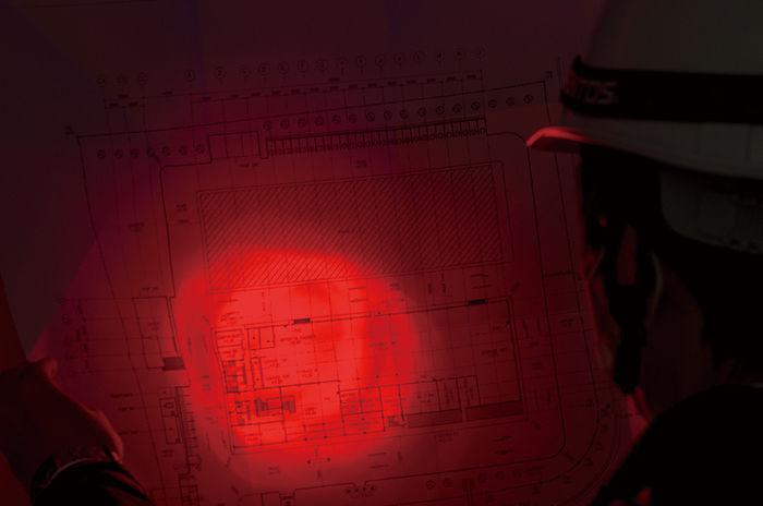 ジェントス赤色LED