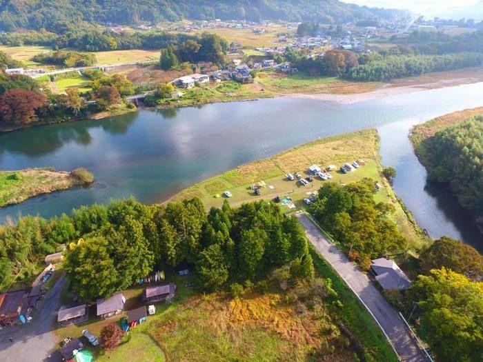 オートキャンプ那珂川ステーションの上空写真
