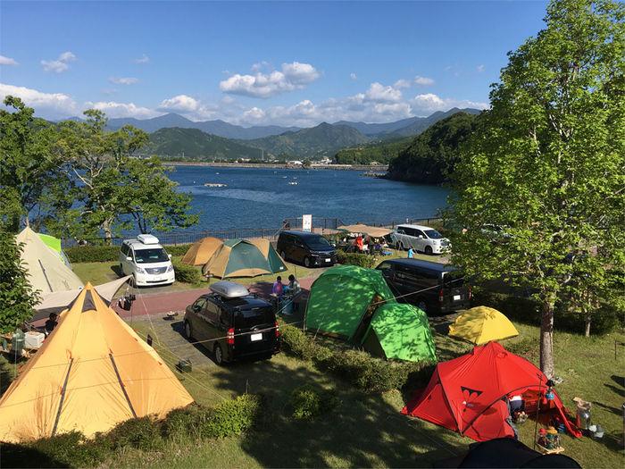 孫太郎オートキャンプのテント