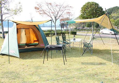 孫太郎オートキャンプに貼られたテント