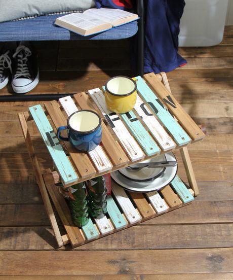 木製ラックの写真