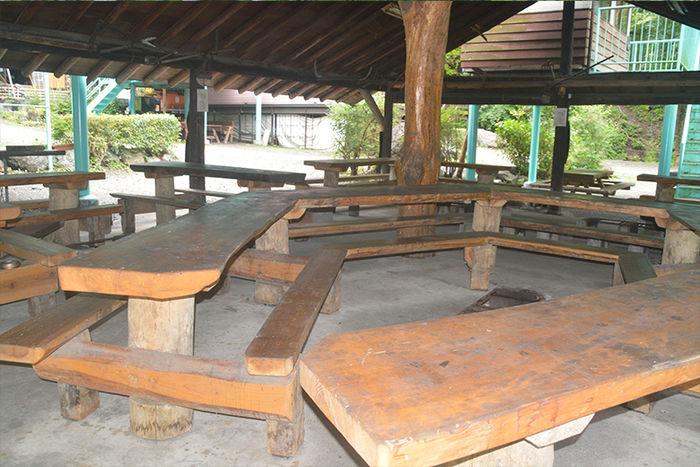 玉川キャンプ村のバーベキュー小屋