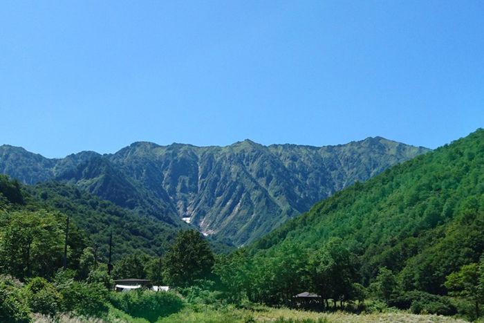 銀山平キャンプ場の景色