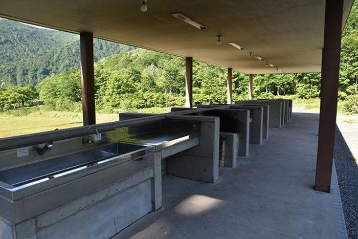 銀山平キャンプ場の炊事場