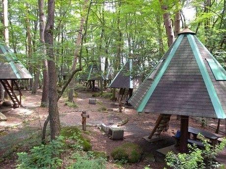 駒ヶ根キャンプセンターのツリーハウス