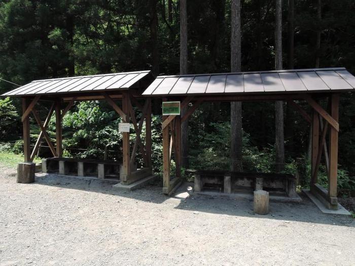 日影沢キャンプ場の炉
